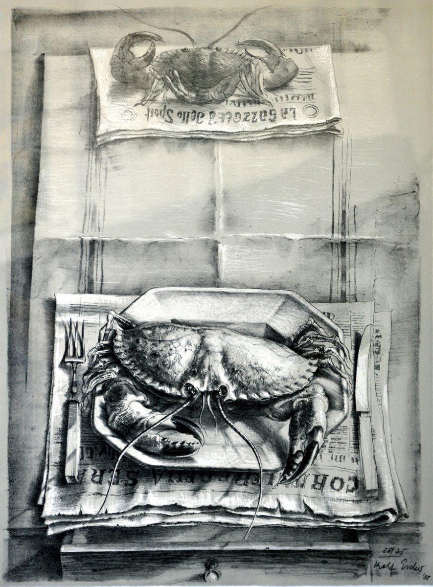 Rolf Escher, Tisch mit Krebs