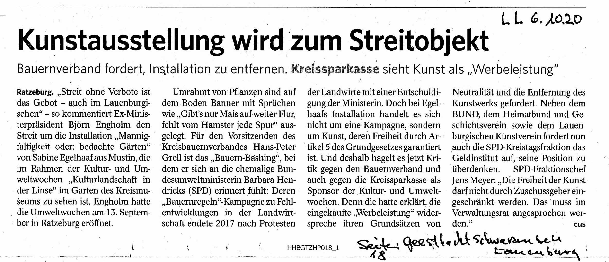 Lauenburgische Landeszeitung On Fire