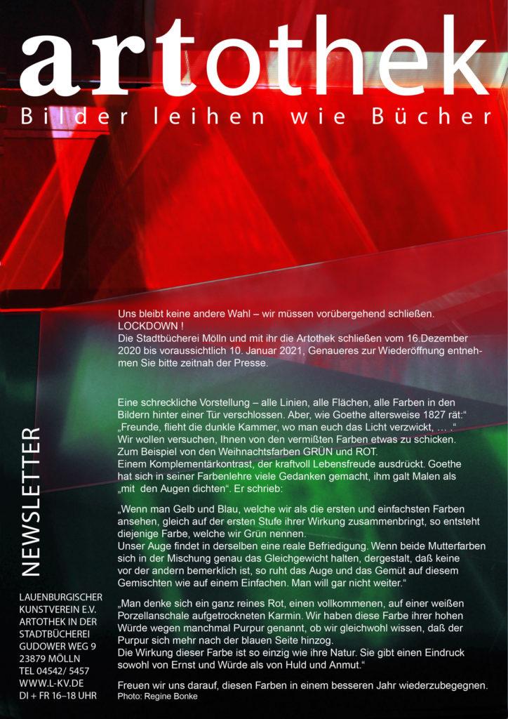 Newsletter 25 Artothek
